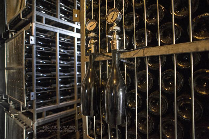 El espumoso Bermejo se toma su tiempo en los jaulones./ Foto T. GONÇALVES
